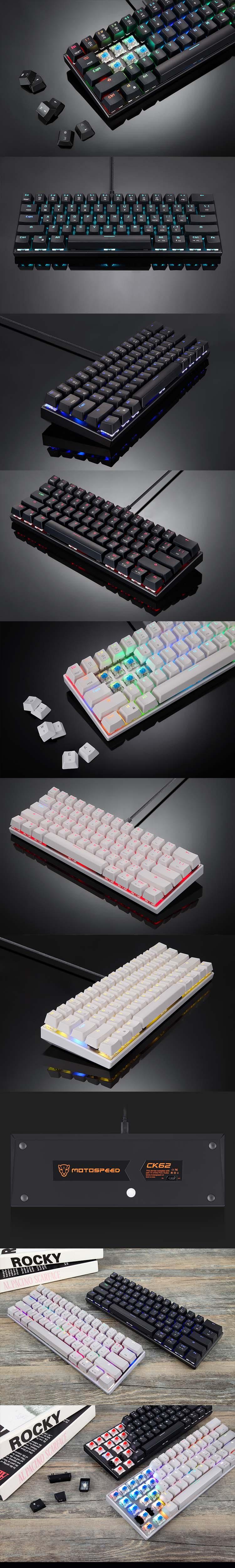 CK62 RGB Kablolu Bluetooth Mekanik Klavye