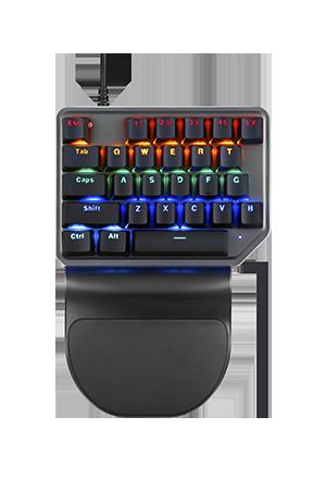 K27 Tek El Arka Işıklandırmalı Mekanik Oyun Klavye